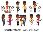african american young woman... | Shutterstock .eps vector #600543569