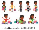 man holding shopping bags and... | Shutterstock .eps vector #600543851