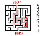 maze game with solution...   Shutterstock .eps vector #600544451