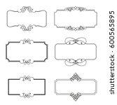 set of decorative frames vector ... | Shutterstock .eps vector #600565895