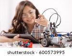 admirable teen girl having... | Shutterstock . vector #600573995
