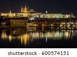 Prague Castle At Night  Czech...