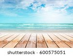 old wood table top on blurred... | Shutterstock . vector #600575051