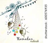 creative ramadan mubarak ... | Shutterstock .eps vector #600576935