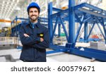 worker in a factory | Shutterstock . vector #600579671