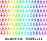 seamless pattern with rainbow... | Shutterstock .eps vector #600581261