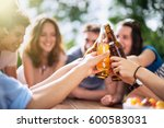 group of young people having... | Shutterstock . vector #600583031