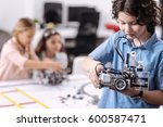 skilled young pupil... | Shutterstock . vector #600587471
