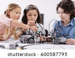 creative kids working on the... | Shutterstock . vector #600587795