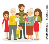 big family | Shutterstock .eps vector #600588401