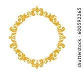elegant circular classic... | Shutterstock .eps vector #600592265
