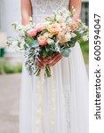 beautiful wedding bouquet in...   Shutterstock . vector #600594047