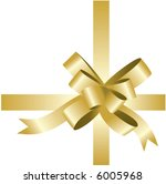 isolated golden ribbon and bow  ... | Shutterstock .eps vector #6005968