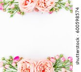 frame background. frame with... | Shutterstock . vector #600598574