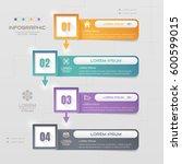 infographics rectangle design... | Shutterstock .eps vector #600599015