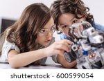 inventive kids enjoying science ... | Shutterstock . vector #600599054
