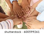 Group Of Children Putting Their ...