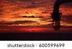 ship's lamp on ocean sunrise... | Shutterstock . vector #600599699
