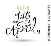 april fool's day vector... | Shutterstock .eps vector #600602459