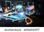 businessman on blurred... | Shutterstock . vector #600603497