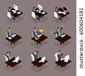 trendy isometric people  3d... | Shutterstock .eps vector #600604181