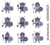 set of vikings. vector... | Shutterstock .eps vector #600605825