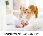 happy family mother and baby... | Shutterstock . vector #600607349