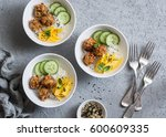 crispy fried fish tacos with... | Shutterstock . vector #600609335
