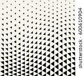 geometric triangle halftone... | Shutterstock .eps vector #600610904