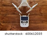 drone quadcopter with a flight... | Shutterstock . vector #600612035