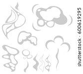 smoke  a smoke icon. flat... | Shutterstock .eps vector #600619295