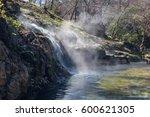 hot water cascade  hot springs... | Shutterstock . vector #600621305