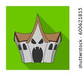 a haunted house  a room of fear ... | Shutterstock .eps vector #600621815