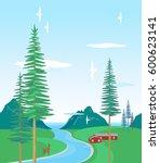 horizontal seamless pattern ... | Shutterstock .eps vector #600623141