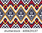 geometric ethnic pattern... | Shutterstock .eps vector #600624137