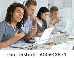 people eating pizza | Shutterstock . vector #600643871