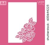 paper greeting card with lace... | Shutterstock .eps vector #600644225