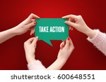 take action  business concept | Shutterstock . vector #600648551