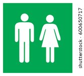 male and female sign  ... | Shutterstock .eps vector #600650717