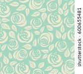 beautiful floral seamless... | Shutterstock .eps vector #600655481