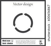 circular arrows vector icon | Shutterstock .eps vector #600656867