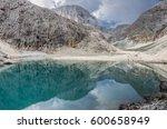 lago d'antermoia  a glacial... | Shutterstock . vector #600658949