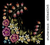 embroidery flowers concept.... | Shutterstock .eps vector #600660245