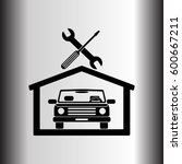 car in the garage icon ... | Shutterstock .eps vector #600667211
