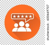 customer reviews  rating  user... | Shutterstock .eps vector #600669707
