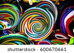select focus on colorful basket