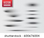 set of transparent oval shadow... | Shutterstock .eps vector #600676004