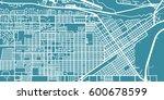 detailed vector map of billings ... | Shutterstock .eps vector #600678599