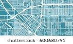 detailed vector map of fresno ... | Shutterstock .eps vector #600680795