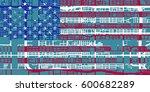 detailed vector map of phoenix... | Shutterstock .eps vector #600682289